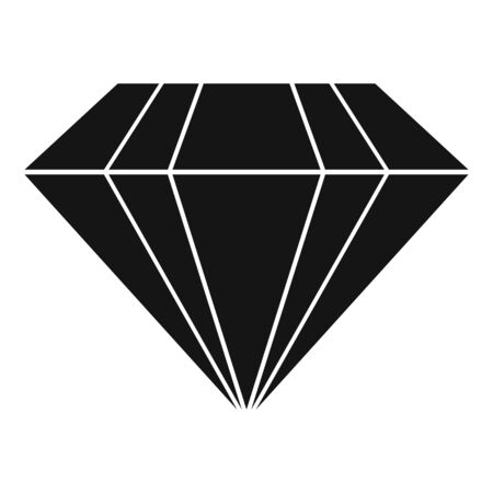 Ruby icon, simple style Vector Illustration