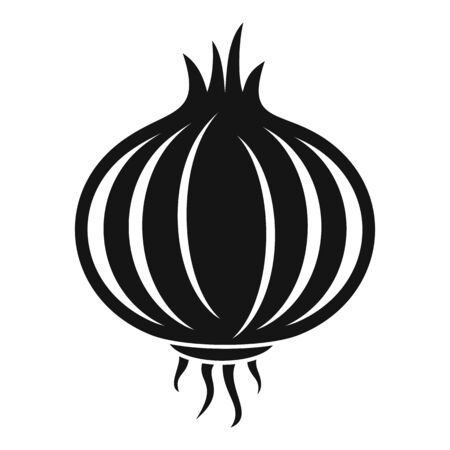 Onion bulb icon. Simple illustration of onion bulb vector icon for web design isolated on white background 版權商用圖片 - 143967166