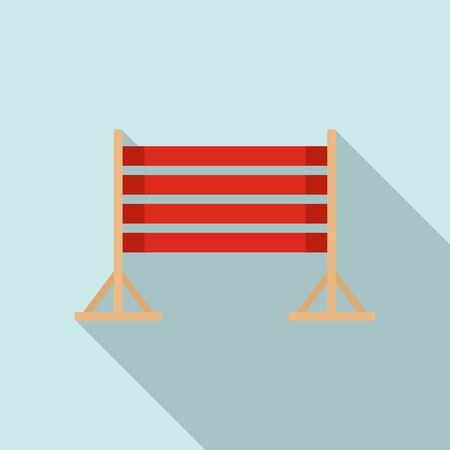 Dog training wood barrier icon. Flat illustration of dog training wood barrier vector icon for web design Vectores