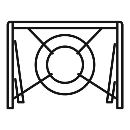 Dog tire obstacle icon. Outline dog tire obstacle vector icon for web design isolated on white background