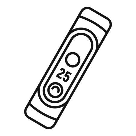 Running bracelet icon. Outline running bracelet vector icon for web design isolated on white background 向量圖像