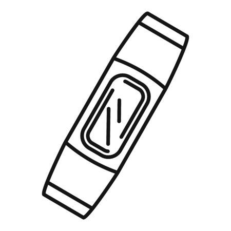 Smart bracelet device icon, outline style