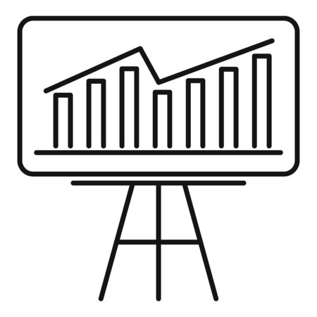 Startup grow chart icon. Outline startup grow chart vector icon for web design isolated on white background