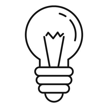 Retro light bulb icon. Outline retro light bulb vector icon for web design isolated on white background