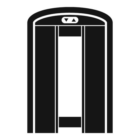Open elevator icon, simple style