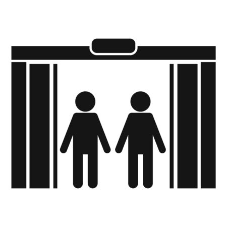 People in elevator icon, simple style