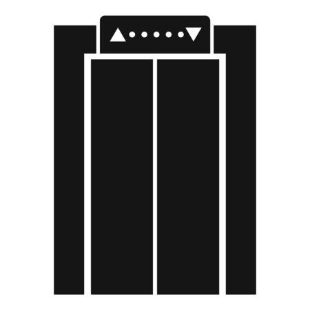 Icône d'ascenseur d'aéroport, style simple Vecteurs