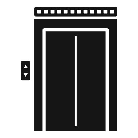 Broken elevator icon, simple style Illustration