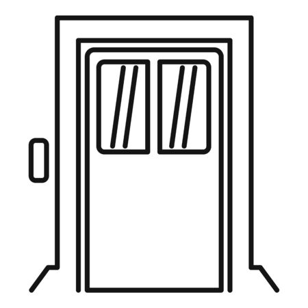 Building elevator icon, outline style