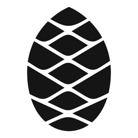 Conifer pine cone icon, simple style