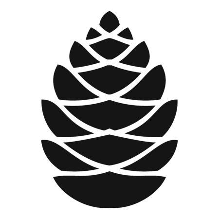 Fall pine cone icon, simple style Vettoriali