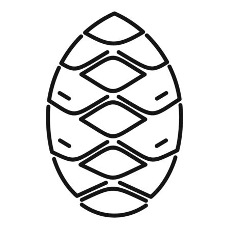 Spruce pine cone icon. Outline spruce pine cone vector icon for web design isolated on white background