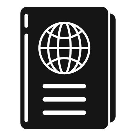 International passport icon, simple style