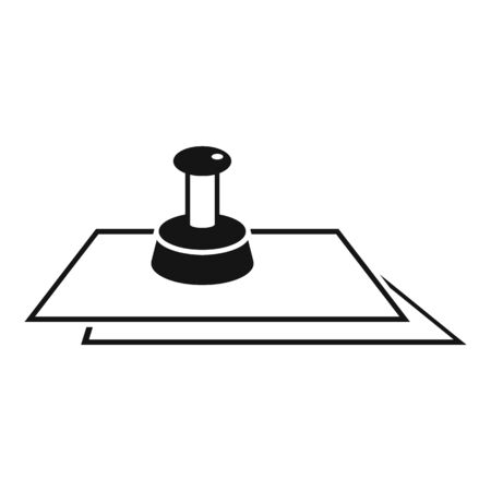 Justice paper stamp icon, simple style