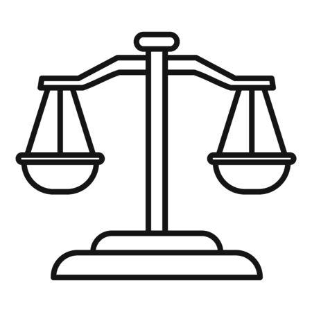 Money balance icon. Outline money balance vector icon for web design isolated on white background