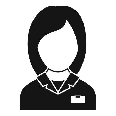 Staff nurse icon, simple style 向量圖像