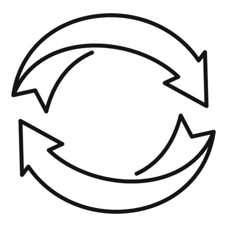 Eco recycling icon. Outline eco recycling vector icon for web design isolated on white background
