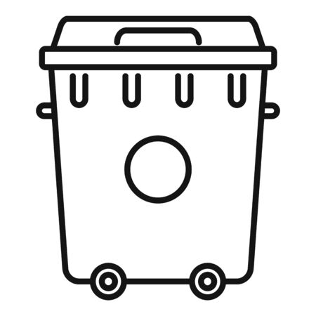 Recycling plastic container icon. Outline recycling plastic container vector icon for web design isolated on white background Vettoriali