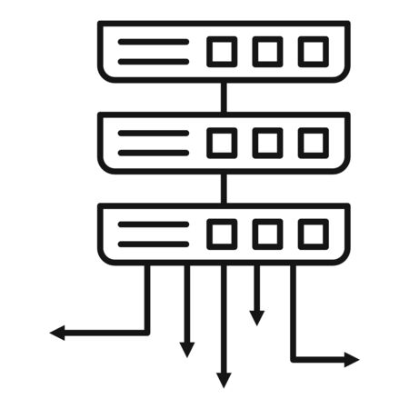 Server infrastructure icon. Outline server infrastructure vector icon for web design isolated on white background Vektorové ilustrace