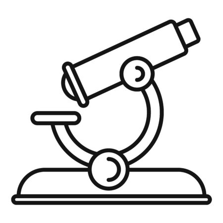 Lesson microscope icon. Outline lesson microscope vector icon for web design isolated on white background