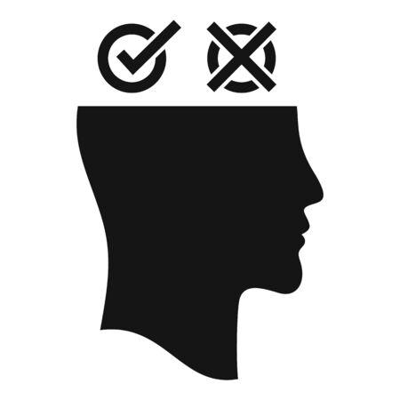 Man bipolar disorder icon, simple style