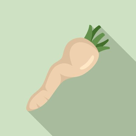 Cooking parsnip icon, flat style Ilustracja