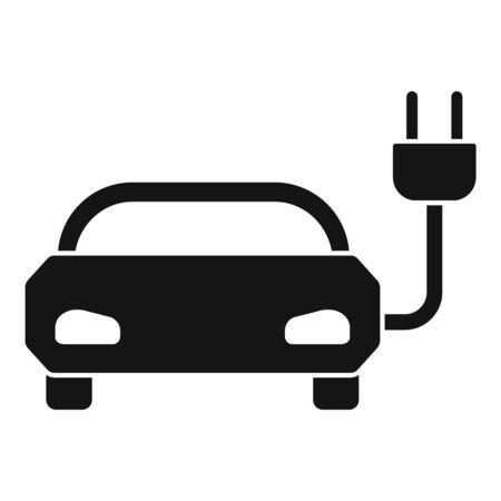 Solar energy hybrid car icon. Simple illustration of solar energy hybrid car vector icon for web design isolated on white background