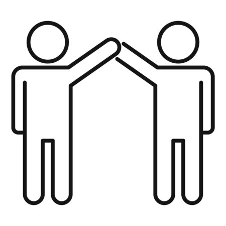 Friend relationship icon, outline style