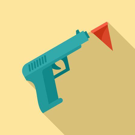 Circus gun icon, flat style