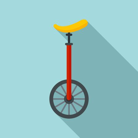 Unicycle circus icon, flat style Иллюстрация