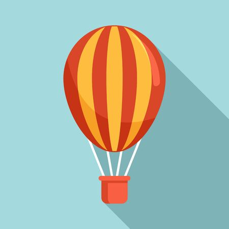 Circus air balloon icon, flat style