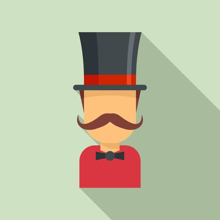 Magician icon, flat style