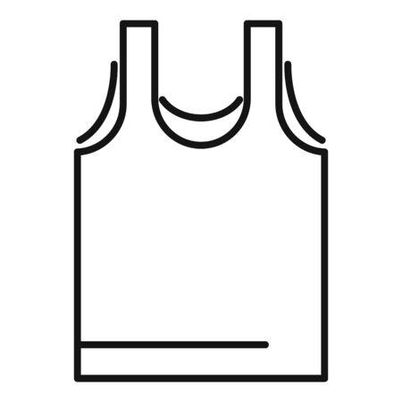 Sport vest icon, outline style Illustration