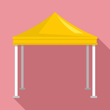 Event garden tent icon. Flat illustration of event garden tent vector icon for web design