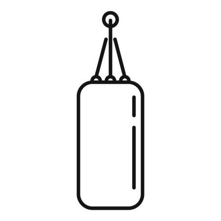 Punch bag icon, outline style Ilustração Vetorial