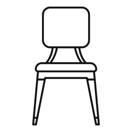 Leather outdoor chair icon, outline style