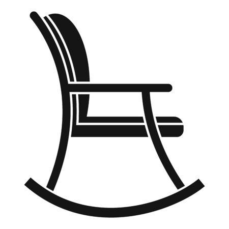 Rocking chair icon. Simple illustration of rocking chair vector icon for web design isolated on white background