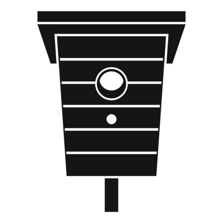 Outdoor bird house icon. Simple illustration of outdoor bird house vector icon for web design isolated on white background