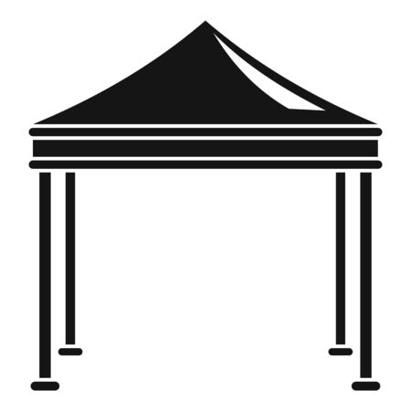 Event garden tent icon, simple style