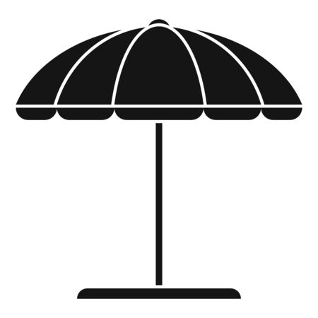 Beach umbrella icon. Simple illustration of beach umbrella vector icon for web design isolated on white background