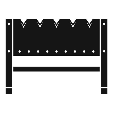 Home brazier icon, simple style Ilustrace