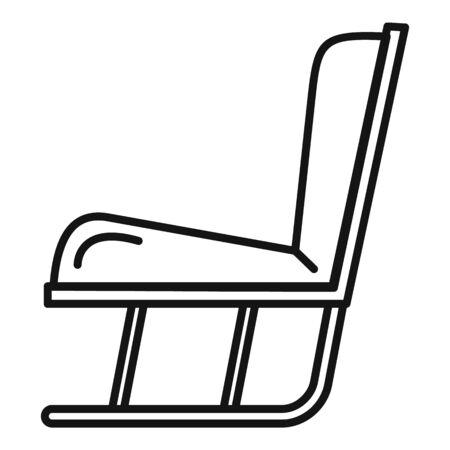 Garden soft rocking chair icon. Outline garden soft rocking chair vector icon for web design isolated on white background Ilustração
