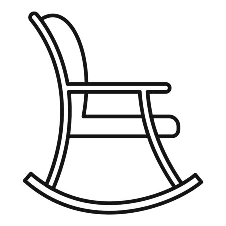 Rocking chair icon. Outline rocking chair vector icon for web design isolated on white background