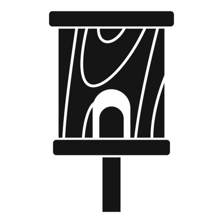 Construction bird house icon, simple style