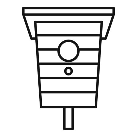 City bird house icon. Outline city bird house vector icon for web design isolated on white background