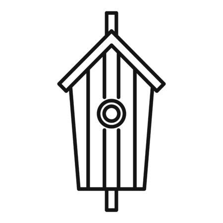 Garden bird house icon. Outline garden bird house vector icon for web design isolated on white background