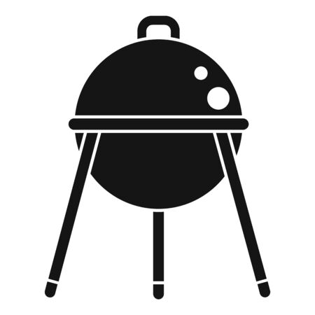 Bbq equipment icon, simple style