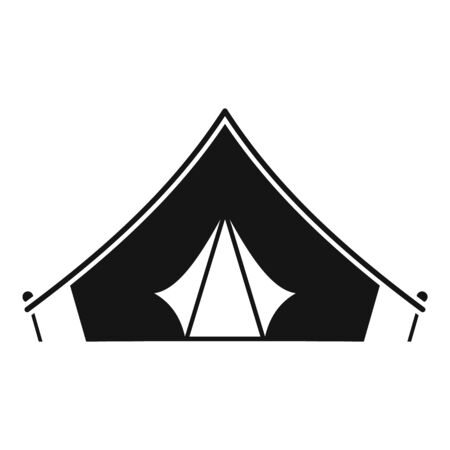 Hiking tent icon, simple style