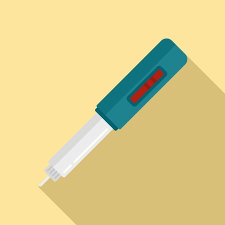 Blood test tool icon. Flat illustration of blood test tool vector icon for web design Ilustracja