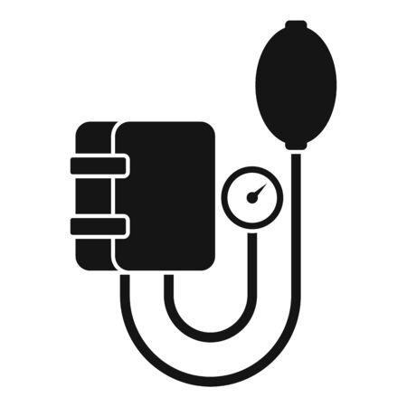 Arterial pressure mechanical tool icon, simple style